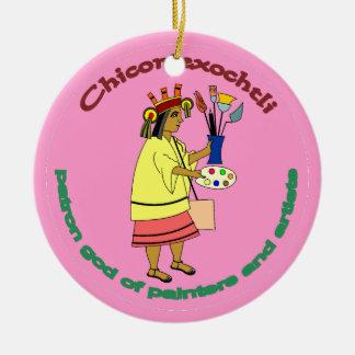 Chicomexochtli - painter's patron god ceramic ornament