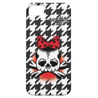 Chidori Check Dokuro-Chan Black iPhone 5 Case