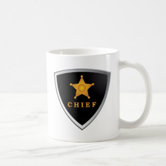 Chief badge coffee mug