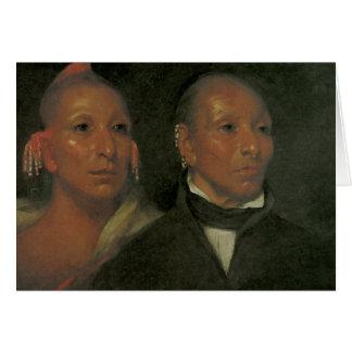 Chief Black Hawk and His Son Card