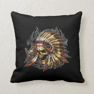 Chief Bones Throw Pillow