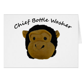 Chief Bottle Washer Card