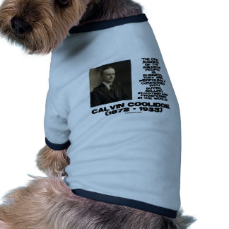 Chief Business Of American People Is Business Doggie Tshirt
