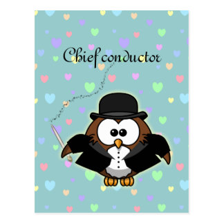 chief conductor postcard