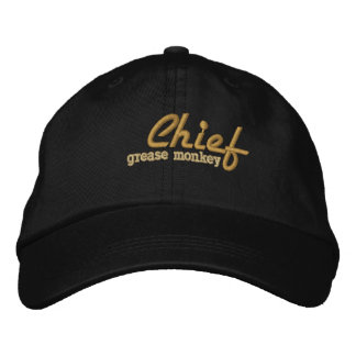 Chief Grease Monkey Embroidered Cap Embroidered Hat