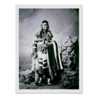 Chief Joseph (1840-1904) c.1880 (b/w photo) Poster