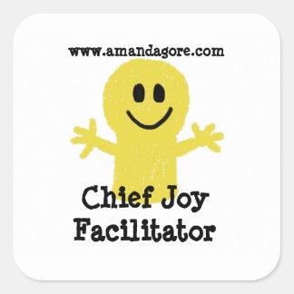 Chief Joy Facilitator Square Stickers