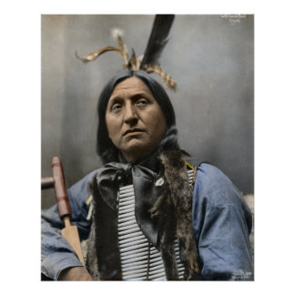 Chief Left Hand Bear 1898 Vintage Poster