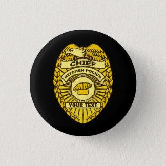 Chief Of Kitchen Police Badge 1 Inch Round Button