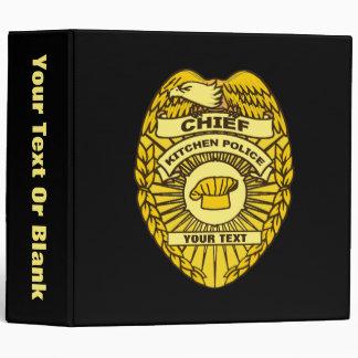 Chief Of Kitchen Police Badge Binder