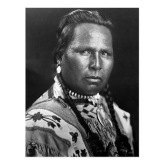 Chief Owen Heavy Breast, 1901 Postcard
