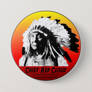 Chief Red Cloud 3 Inch Round Button
