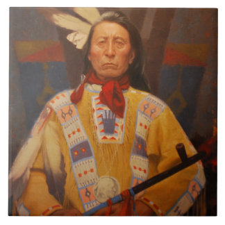 Chief Red Cloud Ceramic Tile