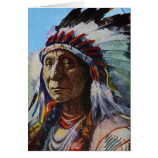 Chief Red Cloud Oglala Lakota Sioux Tribe Card