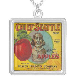 Chief Seattle Brand Silver Plated Necklace