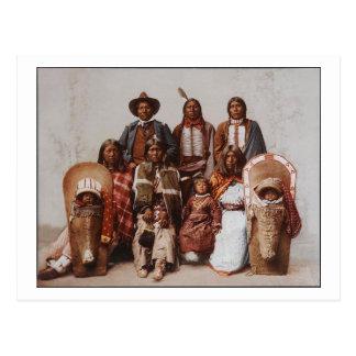Chief Sevara Family Ute 1897 Postcard