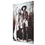 Chief Sitting Bull (1831-90) on tour with Buffalo Canvas Print