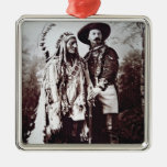 Chief Sitting Bull (1831-90) on tour with Buffalo Metal Ornament