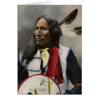 Chief Strikes With Nose, Oglala Sioux  1899 Card
