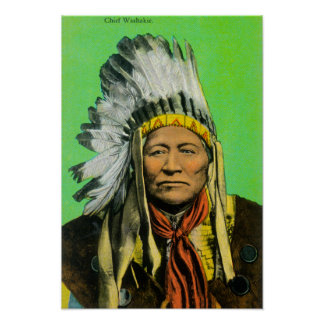 Chief Washakie Portrait Poster