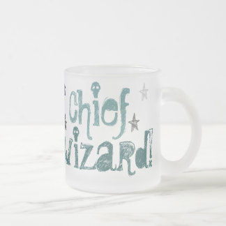 chief wizard! frosted glass mug