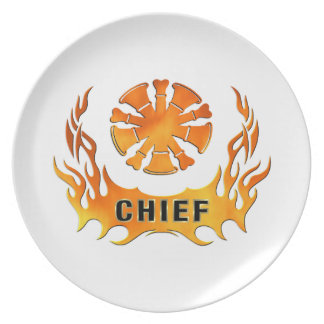 Chiefs Flames Party Plates