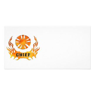 Chiefs Flames Photo Greeting Card