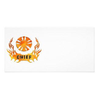 Chiefs Flames Photo Card
