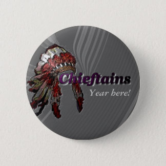 Chieftains on Gray 2 Inch Round Button