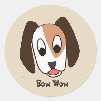 Chien Bow Wow - bon autocollant du travail
