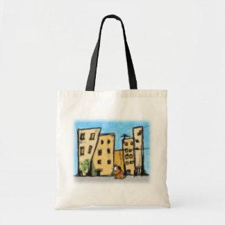 Chien dans la ville sacs