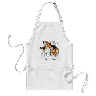 chien de beagle tablier