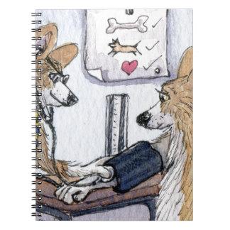 Chien de docteur Gallois Corgi vérifiant la tensio Carnet
