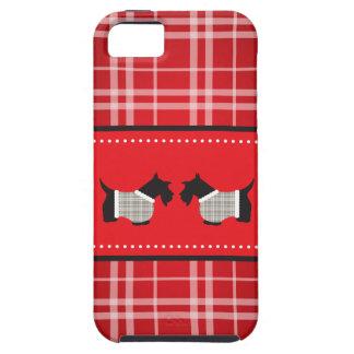 Chien de Scotty avec l arrière - plan de plaid Étui iPhone 5