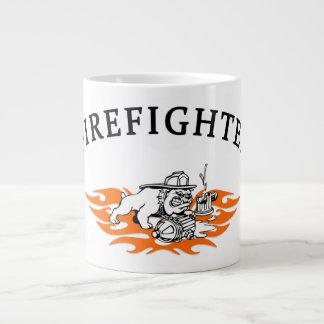 Chien de Taureau de sapeur-pompier dur Mugs Extra Larges