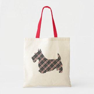 Chien de Terrier Scotty d'écossais de plaid Sac En Toile Budget