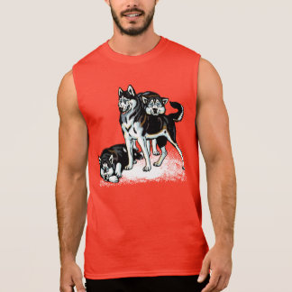 chien de traîneau sibérien tee-shirt sans manches