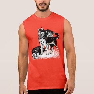 chien de traîneau sibérien tee-shirts sans manches