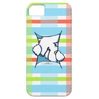 Chien de Westie à l'intérieur de plaid Coques iPhone 5