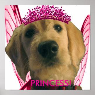 Chien féerique - princesse posters