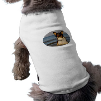 Chien frais à la plage t-shirt pour animal domestique