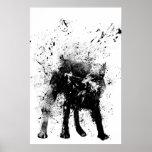chien humide affiche