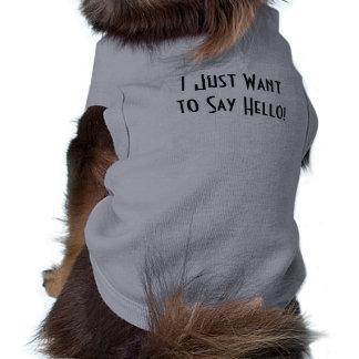 Chien impertinent t-shirt pour animal domestique