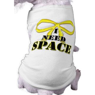 Chien jaune j'ai besoin de la chemise de l'espace manteaux pour animaux domestiques