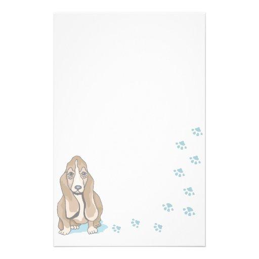 Chien stationnaire animal d'amants d'animal famili papier à lettre personnalisé