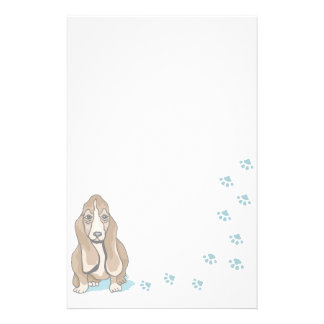 Chien stationnaire animal d'amants d'animal famili papier à lettre customisable