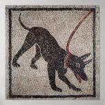 Chien sur une laisse, de Pompeii Poster