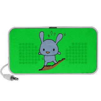 Chienchien bleu mignon haut-parleurs iPod