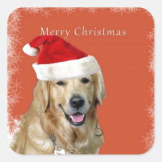 Chienchien de Joyeux Noël Sticker Carré
