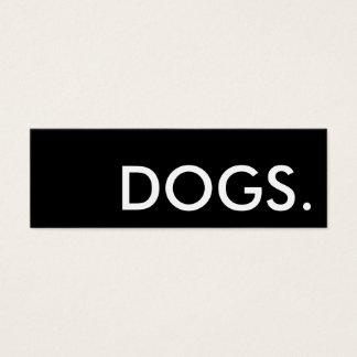 chiens. carte perforée de fidélité